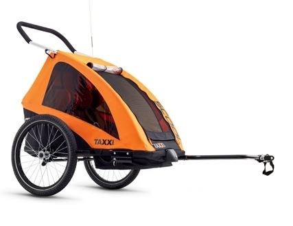 S´COOL Kinderanhänger taXXi Pro for two orange