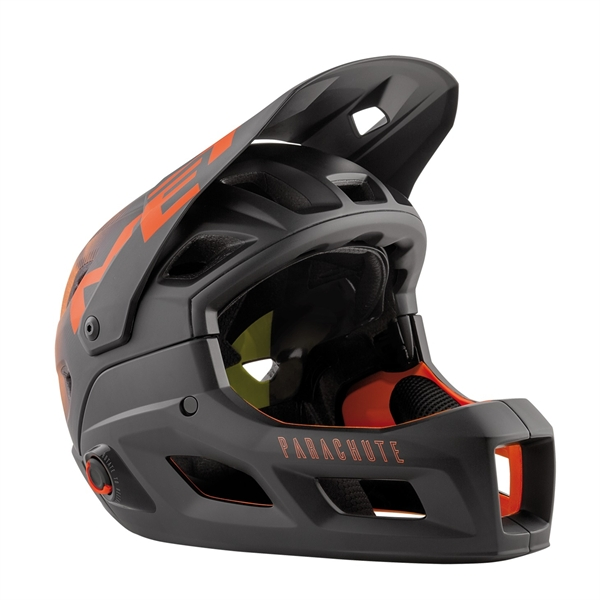 MET Parachute MCR MIPS Helmet Black Orange Matt