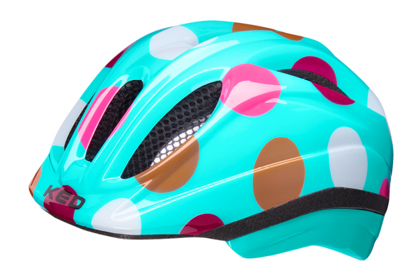 KED Meggy II Trend Kids Helmet dots retro
