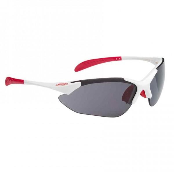 Alpina Tri-Quatox glasses white-red-black / clear / orange