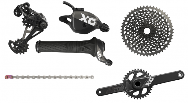 SRAM Groupset X01 Eagle - DUB 1x12-speed - black