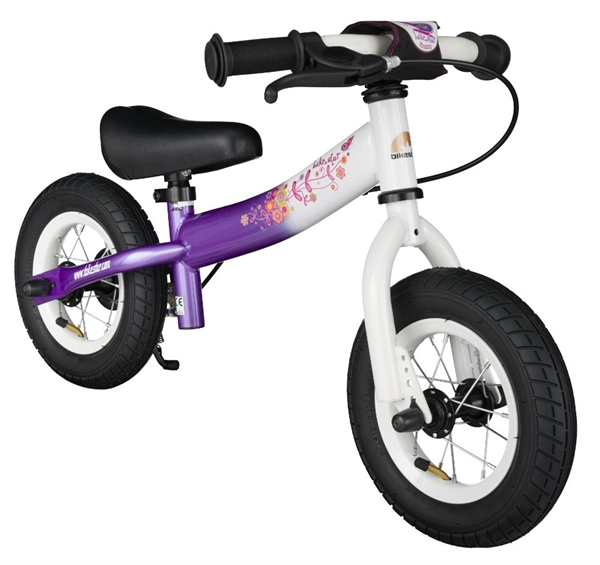 Bikestar safety children's wheel bike Sport 10'' candy lila & diamond white