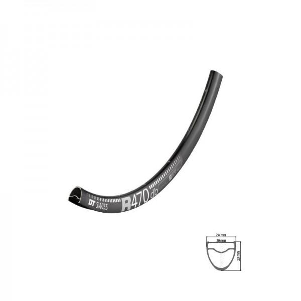 DT Swiss R 470 disc Rim 700c black