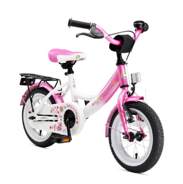 Bikestar Premium Kids Bike Classic 12'' flamingo pink & diamond white
