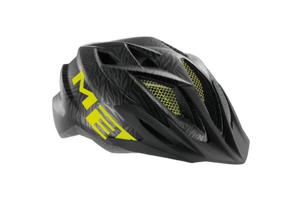 Met Crackerjack Helmet Black/Green Texture - Unisize