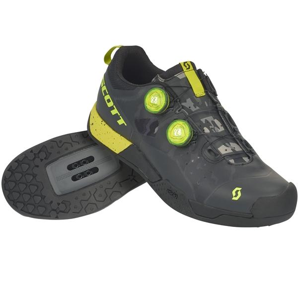 SCOTT MTB AR Boa Clip Shoe black/sulphur yellow