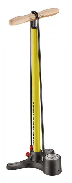 Lezyne Sport Floor Drive Standluftpumpe gelb