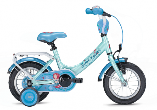 Falter Mermaid 18 inch turquoise/ red Kids Bike