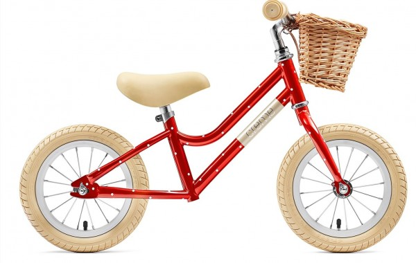 "Creme Cycles Mia 12"" Push-Bike red polka"