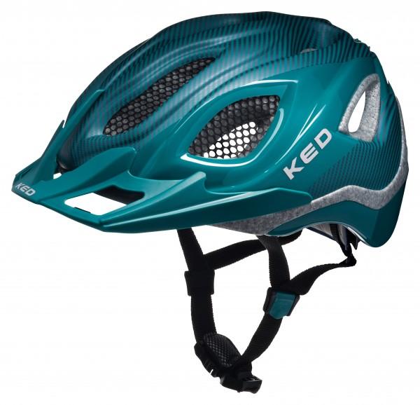 KED Certus Pro Helm dark green glossy matt