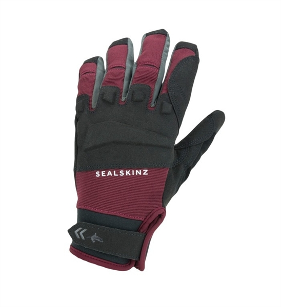 SealSkinz Handschuhe All Weather MTB schwarz/rot