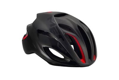 Met Rivale Helm matt black/red