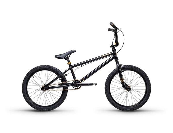 S´COOL XtriX 40 BMX 20'' Stahl 1-Gang black/gold matt