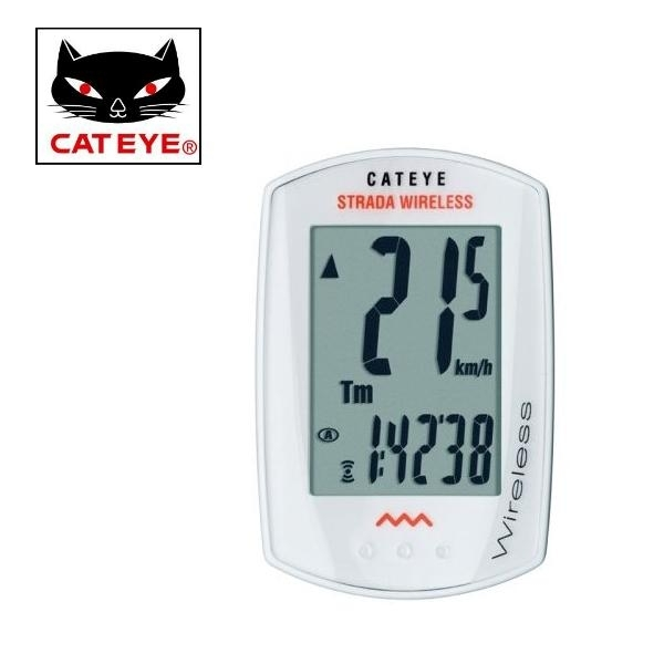 Cateye bike computer Strada CC-RD300W white - wireless