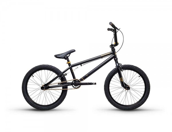 S´COOL XtriX 40 BMX 20'' Stahl 1-Gang black/gold matt