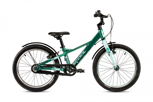 S´COOL XXlite 18 Evo Aluminium 1-Gang mit Freilauf green metallic/aqua matt