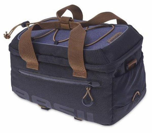 Basil Miles Gepäckträgertasche dunkelgrau/blau