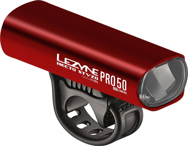 Lezyne Hecto StVZO Pro 50 red-gloss white light, Y11