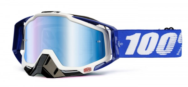 100% Racecraft Goggle cobalt blue - mirror lense
