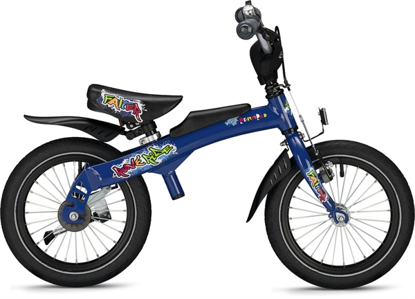 "Falter Run & Ride 14"" Laufrad/Kinderrad - blau"