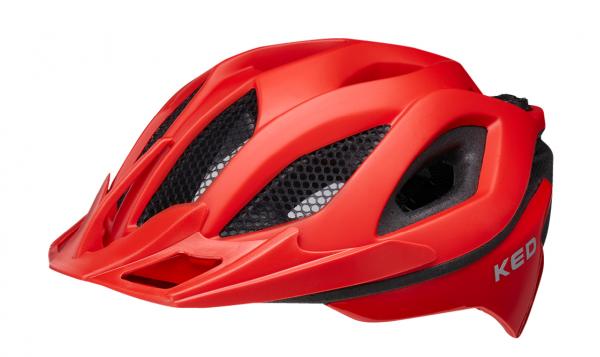 KED Spiri II MTB Helm fiery red matt