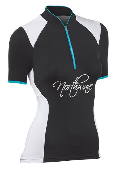 Northwave Women Venus Jersey short sleeves black/white/peacock
