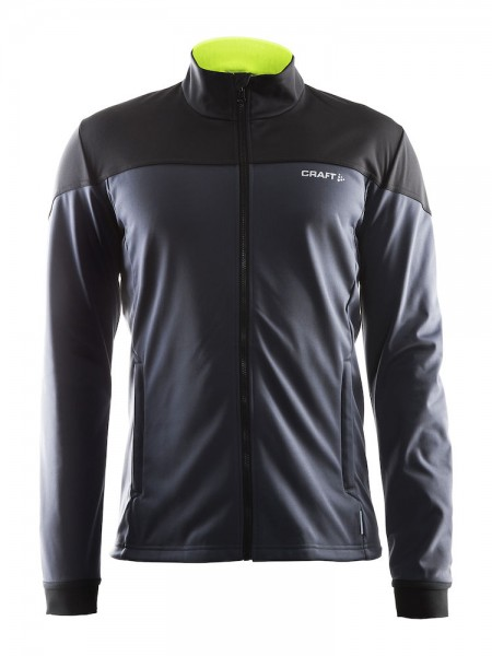 Craft Voyage Softshell Jacket asphalt/black/flumino