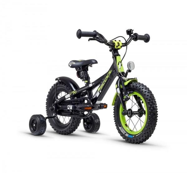 S´COOL faXe 12 Aluminium 1-speed black/lemon matt reflex