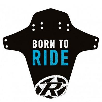 Reverse Mudguard Born to Ride light-blue
