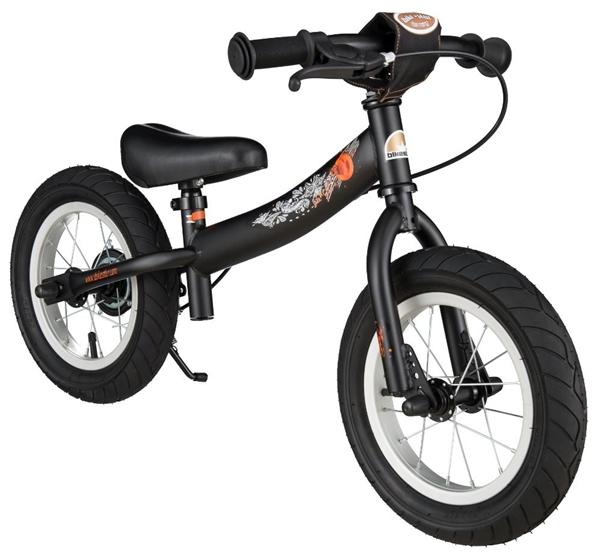 Bikestar Sicherheits-Kinderlaufrad Sport 12 Zoll teuflisch schwarz matt