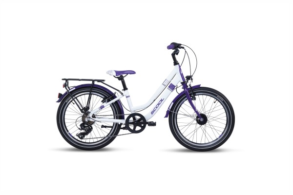 S´COOL chiX 20 twin alloy 7-speed white/violet