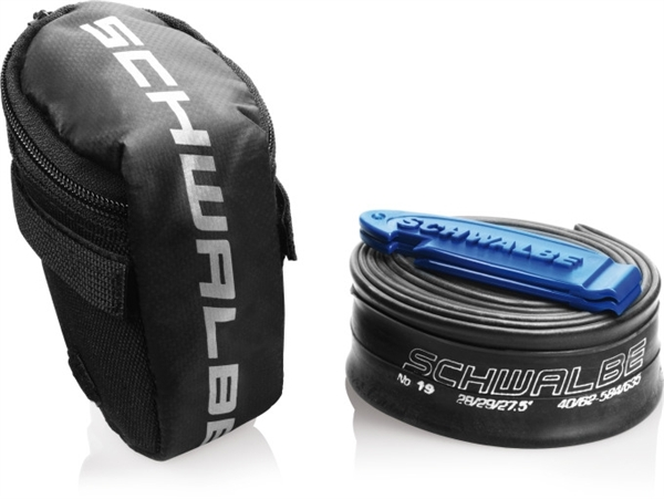 """Schwalbe Tube Bag MTB 26"""" - 13 SV Schlauch with Tyre Levers"""