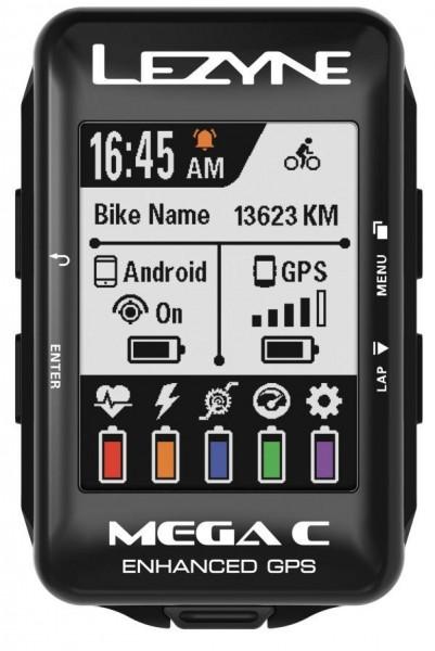 Lezyne bike computer mega color GPS black