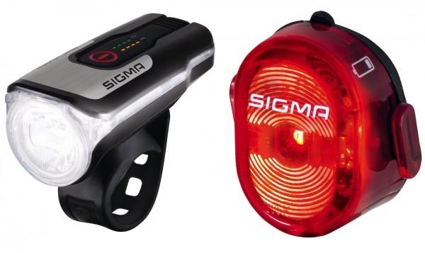 Sigma Beleuchtungsset Aura 80 USB + Nugget II USB mit StVZO-Zulassung