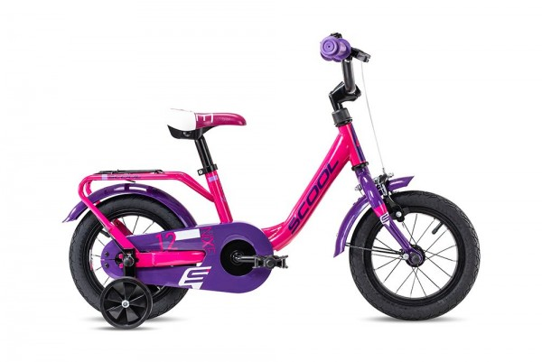 S´COOL niXe 12 steel 1-speed pink/violet