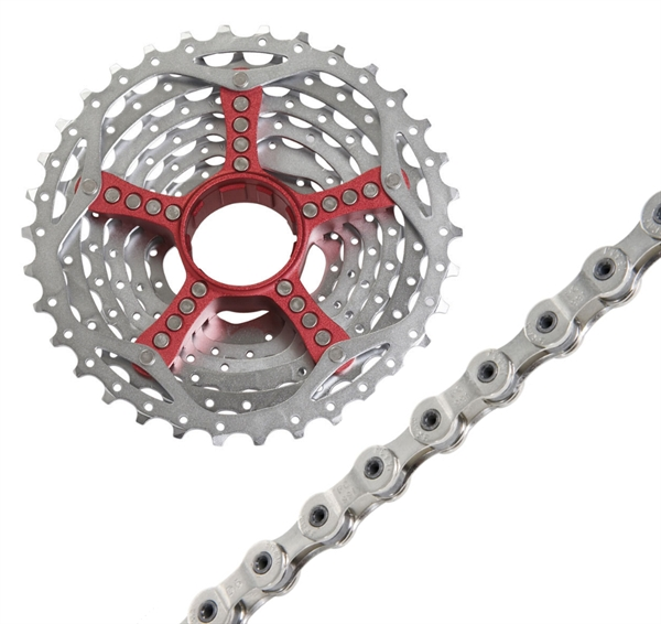 SRAM chain and cassette kit PG-990 9-speed