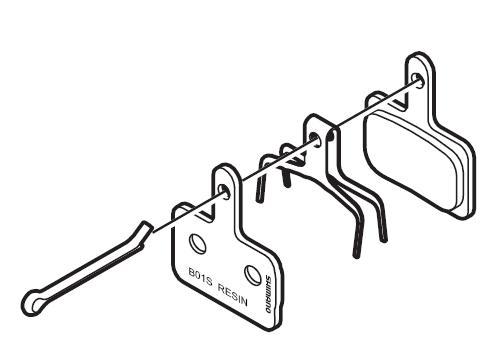 Shimano Scheibenbremsbelag B01S Resin für BR-M485/486/525/575