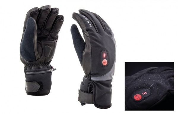 SealSkinz Gloves Cold Weather heated Cycle black