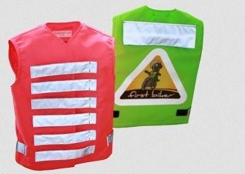 First Biker children's warning and learning vest green