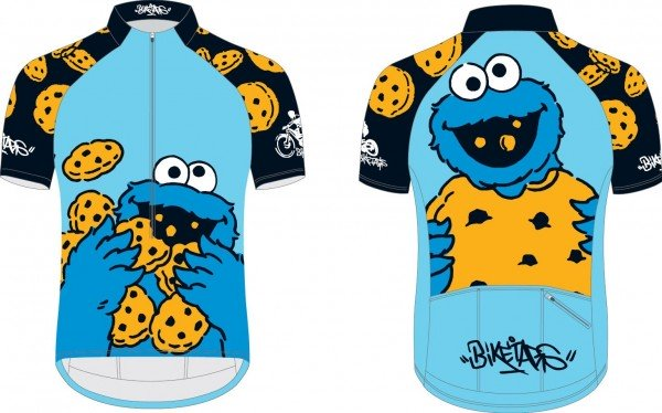 Biketags cycling jersey Sesame Street cookie monster