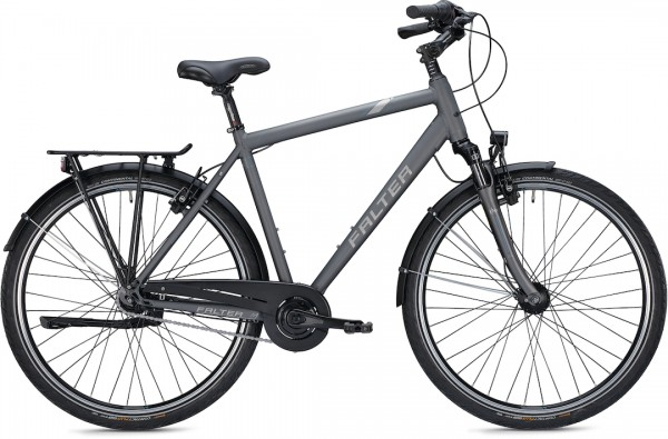 """Falter City / Urban Bike C 4.0 Plus 28 """"matte, titanium"""