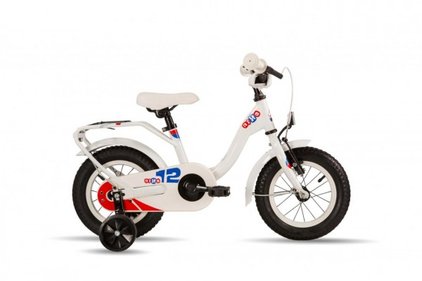 S´COOL niXe 12 steel 1-speed white/blue/red