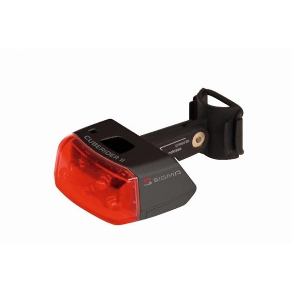 Sigma LED-Batterie Rücklicht Cuberider II schwarz (18105)