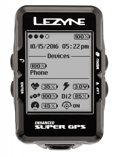 Lezyne bike computer super GPS with heart rate monitor black