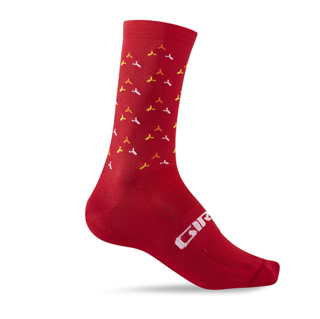 Giro Comp Racer High Rise Socken red/orange turbine