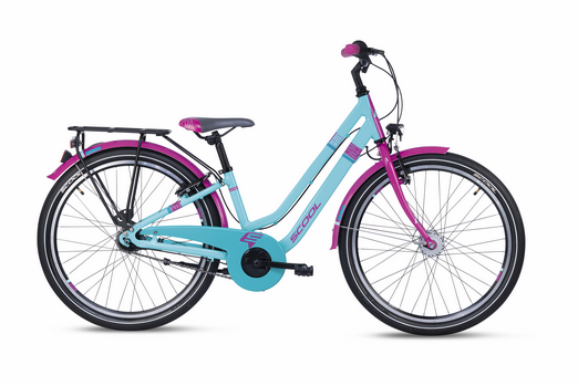 S´COOL chiX 24 twin alloy 7-speed turquoise / violet