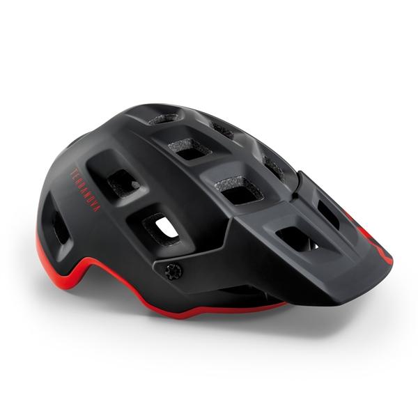 Met Terranova MIPS Helm Black Red Matt Glossy