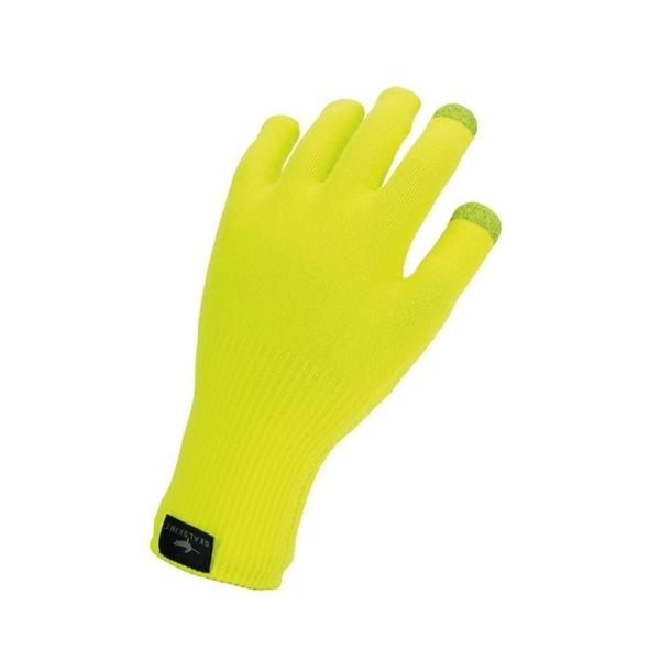 SealSkinz Handschuhe Ultra Grip knitted neongelb