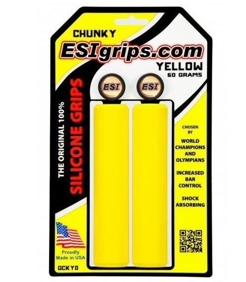 ESI Chunky yellow Grips Silicon
