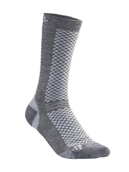 Craft Warm Mid 2- Pack Socks granite/platin